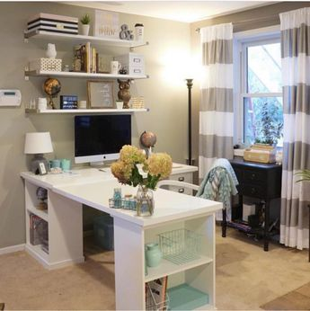 My New Ikea Desk Home Office Design Guest Room Office Home Office Decor