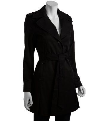 low priced on feet at wholesale online DKNY : black cotton blend 'Melissa' trench coat : style ...
