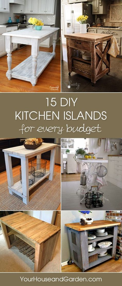1000 ideas about budget kitchen makeovers on pinterest for Cheap diy kitchen island ideas