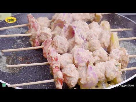 Apis Soya Chunks Kebab Recipe   Kebab Recipes   Seekh Kebab