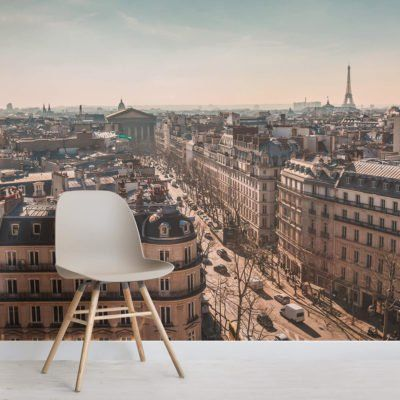 Paris Morning Wallpaper Mural With Images Mural Wallpaper Paris Wallpaper Mural