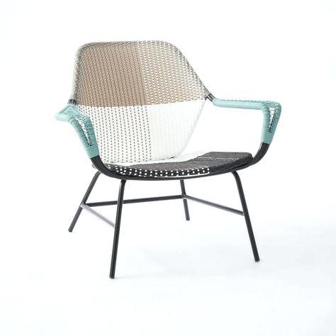 Woven Garden Furniture All Weather Wicker Woven Outdoor Lounge Chair Gray Tonal West Elm Cane Line Garden Furnitur Decoracao De Casa Modelos De Portas Cadeiras