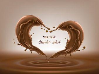 Chocolate Abstract Splashes 3d Illustration Chocolate Logo Chocolate Milk Splash