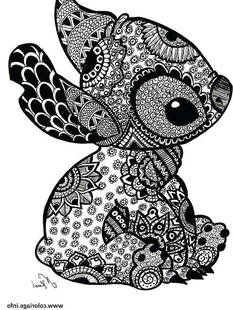 coloriage mandala: coloriage mandala stitch