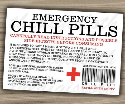 graphic relating to Chill Pill Printable Label known as Chill Drugs for Industry experts (PNG History) Funniest Place of work Co