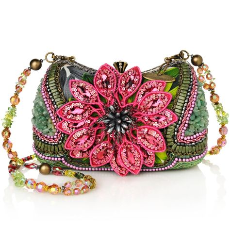 Mary Frances Breathtaking Beaded Handbag - think pink and a little green too!