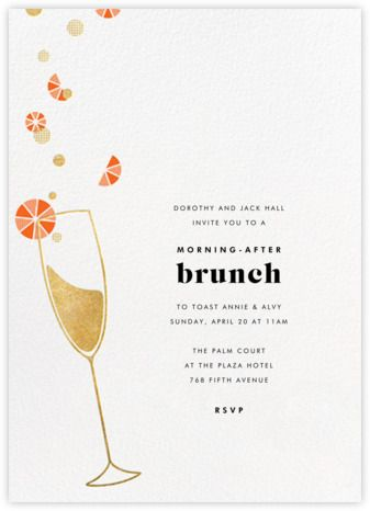 Gather everyone together for one last celebration at a post-wedding brunch with custom online invitations.