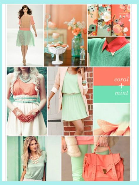 #Coral and #Mint are the fire and ice of this summer!