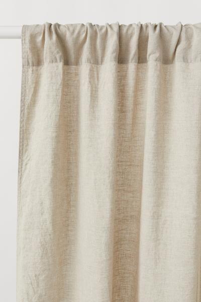 2 Pack Linen Curtain Panels Beige Home All H M Us Linen