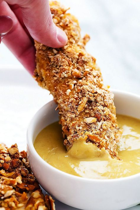 The Highest Three Chicory Espresso Manufacturers - Include A Novel Taste On Your Cup Of Joe Baked Pretzel Crusted Chicken Tenders Creme De La Crumb Chicken Tenderloin Recipes, Chicken Tender Recipes, Healthy Baked Chicken Tenders, Baked Chicken Tenderloins, Chicken Meals, Pretzel Crusted Chicken, Picky Toddler Meals, Toddler Dinners, Toddler Lunches