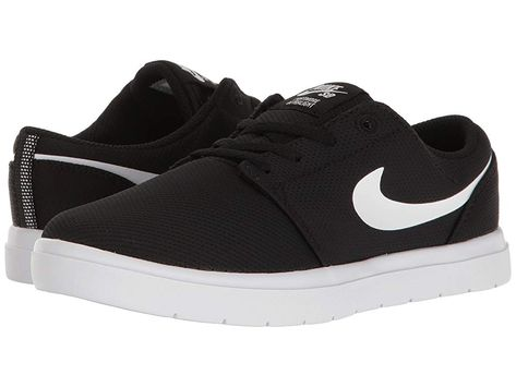 d1f38de12c6b Nike SB Kids Portmore II Ultralight (Little Kid) Boy s Shoes Black White