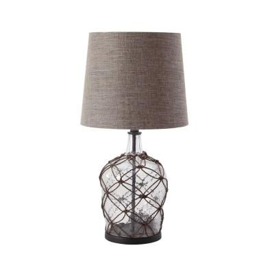 Litton Lane 29 In X 15 In Brown Modern Rattan Cage Design Lighting Table Lamp With Linen Drum Shade 83823 The Home Depot In 2021 Drum Shade Table Lamp Brown Table Lamps