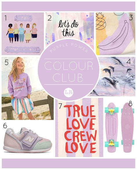 Lemon Ribbon Studio - Colour Club ..... Pastel Purple 1. Studio Flos 2. Fine Day Press 3. Tiny Rain Kids 4. Molo 5. Next 6. New Balance 7. Little Man Happy 8. Penny