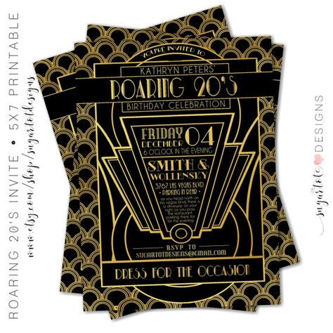 List Of Pinterest Gatsby Party Invitations Roaring 20s Images