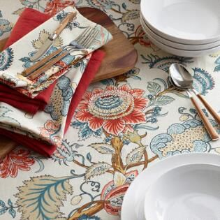 Blue Palampore Anika Table Linen Collection Holiday Table Linens