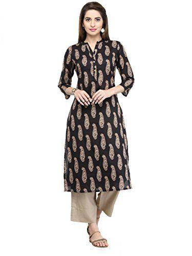 Indian Bollywood kurti kurta Printed Crepe silk  Pakistani tunic red NEW