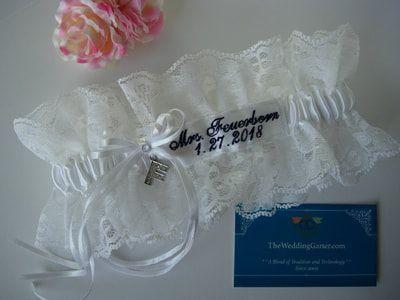 Lavender Bridal Garters-Cutstom Bridal Garter-shabby chic garter