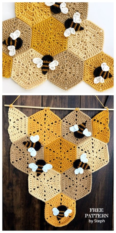 Crochet crafts 238831586477077369 - Crochet Honeycomb Banner Free Crochet Pattern Source by DIYDailyMag Crochet Whale, Bunny Crochet, Bag Crochet, Crochet Gifts, Crochet Hooks, Crochet Art, Crochet Tutorial, Crochet Pattern Free, Crochet Blanket Patterns