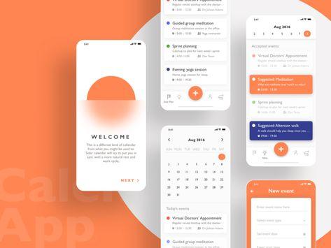 iOS Calendar App Concept Sketch Freebie