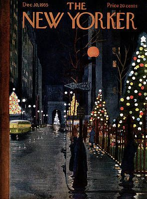 The New Yorker 2021 Christmas New Yorker December 10th 1955 By Alain In 2021 New Yorker Covers Christmas Cover The New Yorker