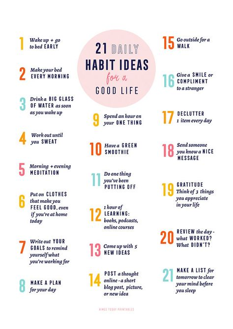 21 Habit ideas for a Good Life - instant download digital art print and printable planner insert. I designed this print to be the perfect friendly (and pretty!) reminder for you to practice great habits every day. Keep it nearby, try a few at a time and most importantly have fun building fabulous new habits! ___________________________ HOW TO USE This artwork is delivered to you as high-resolution digital downloadable PDFs to print at home, at your local copy shop or printing place. You ca...