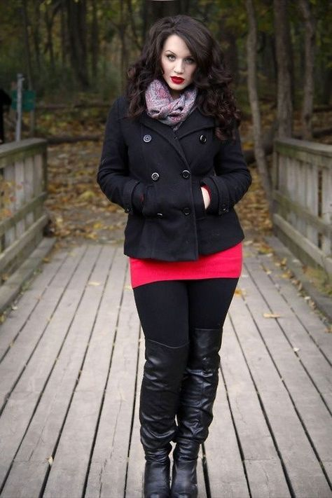 Winter / Fall Fashion Plus size winter fashion ideas, mainly those clothes created out of fabric which keeps the warmth and insulation inside, protecting the body from cold, parallel to the fashion statements in the present trend for a