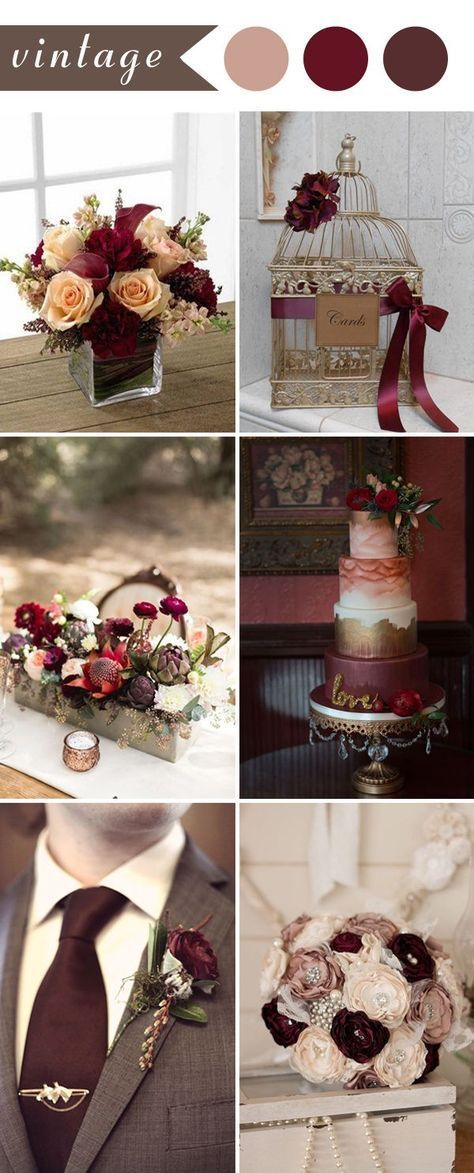 Burgund Wedding Decor Inspiration Hochzeitsfarben Farbthema Fur Die Hochzeit Bright And Rich Wedding Burgundy Wedding Theme Burgundy Wedding Wedding Themes