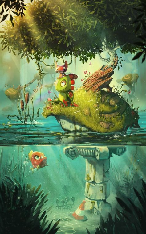 Here's some adorable Yooka-Laylee art