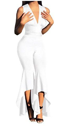 Xswsy XG Womens Fashion V Neck Solid Short Sleeve Jumpsuit Rompers