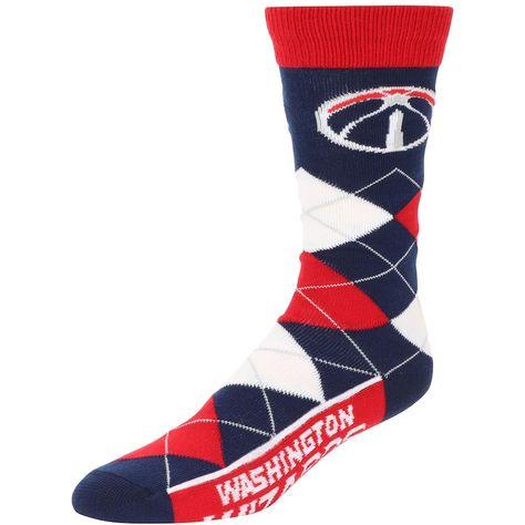 Washington Wizards For Bare Feet Team Argyle Crew Socks