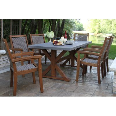 Beachcrest Home Tovar 7 Piece Dining Set Outdoor Dining Set 7