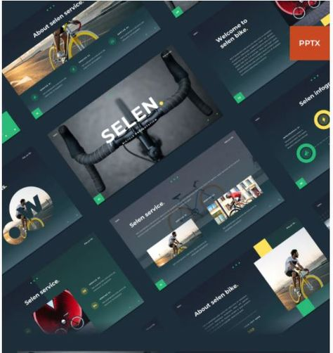 Selen - Bicycle PowerPoint Template
