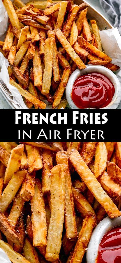 How to Make French Fries in Air Fryer with spicy mayo and Parmesan cheese. fryer recipes potatoes french fries How to Make French Fries in Air Fryer Cooking French Fries, Air Fry French Fries, French Fries Recipe, Healthy French Fries, Air Fryer Dinner Recipes, Air Fryer Recipes Easy, Air Fryer Recipes For French Fries, Air Fryer Recipes Gluten Free, Parmesan