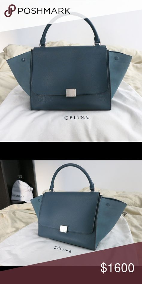 Celine trapeze in orage medium size Bag   celine  trapeze Size  medium  Color  orage Material  exterior calfskin with suede wings, interior  lambskin ... 978300ed92