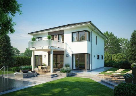 modernes Haus mit weißer Fassade und Garage Terrassen Pinterest - minecraft küche bauen