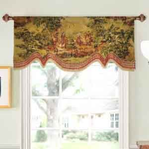 Board Mounted Houston Valance With Mini Jabots Cool Curtains