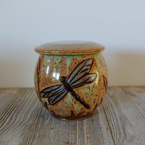 HandmadeHand Painted Wooden Pet Urn with Angel Design
