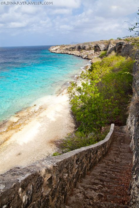 Thousand Steps Scuba Diving Spot in Bonaire.  Not really 1000, but sure feels like it coming up with all your gear.
