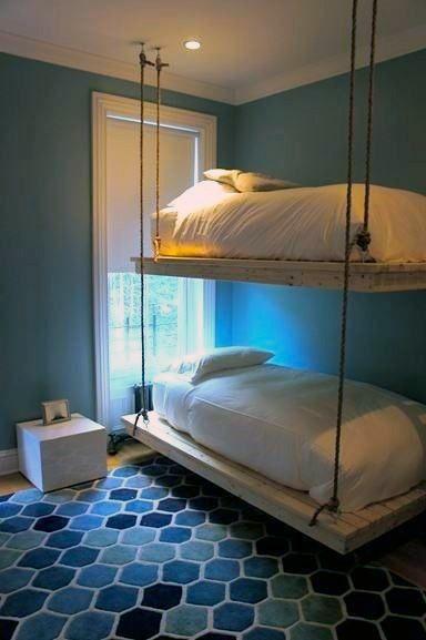 Top 50 Der Besten Hangenden Bett Ideen Hinterhof Schlafzimmer Komfort Deutsch Style Diy Bunk Bed Bed Design Bunk Bed Designs