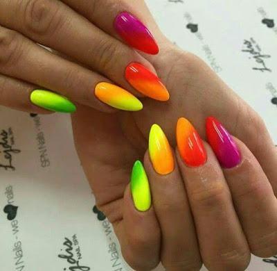 25 Neon Nails Style Fur Ihre Hande 2019 Nageldesign Nailart Neon Nagel Neon Nagellack Nagelideen