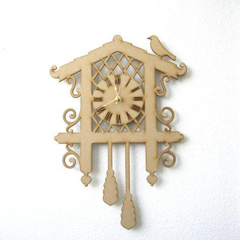 Diy Cuckoo Clock Kit Wood Clock Laser Cut Clock Hanging Clock