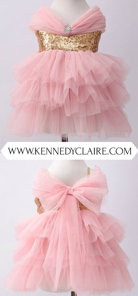 61324c34c7 Pink and Gold Fancy Toddler Dress is the perfect Birthday Dress