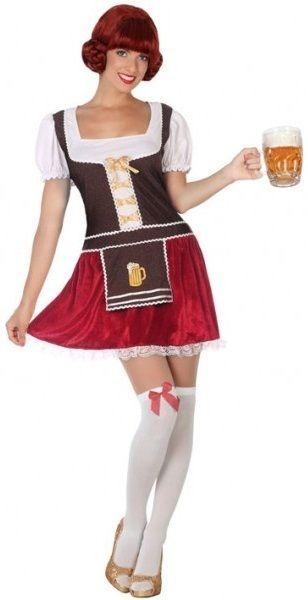 OKTOBERFEST LADIES BEER FESTIVAL BAVARIAN BROWN GREEN FANCY DRESS COSTUME GERMAN