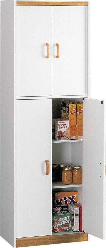 Ameriwood White Double Door Pantry Cabinet
