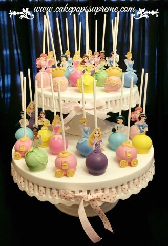 Princess Cake Pops With Images Disney Birthday Cakes Princess