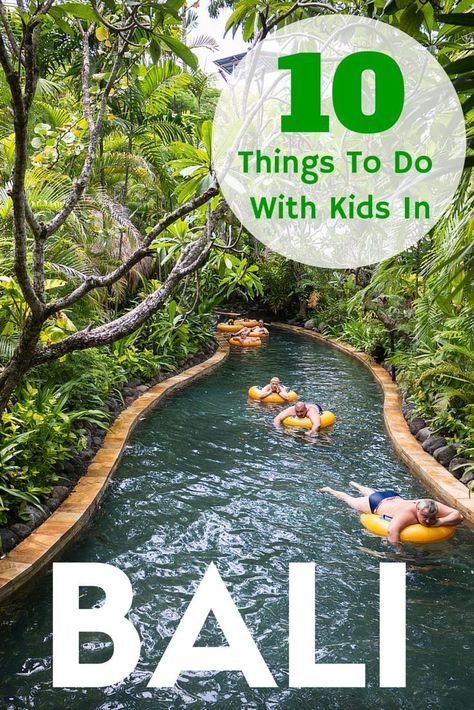 10 Things To Do With Kids In Bali. Includes Waterbom, Ubud Cycling Tour, Peekaboo, Bali Bird Park & Reptile Park, Bali Safari and Marine Park, Bali Zoo and more. TRAVEL WITH BENDER   Family Travel made easy in Bali, Indonesia.