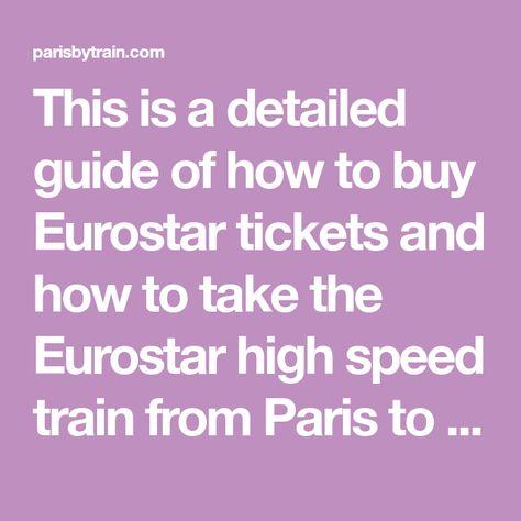 Buy eurostar tickets online