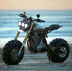 Badass Mini Bike Kits: How to get your kid started early - Motorcycle Mini Motorbike, Scrambler Motorcycle, Motorcycle Design, Bike Design, Tw Yamaha, Honda Cb750, Honda Scrambler, Mini Bici, Mustang