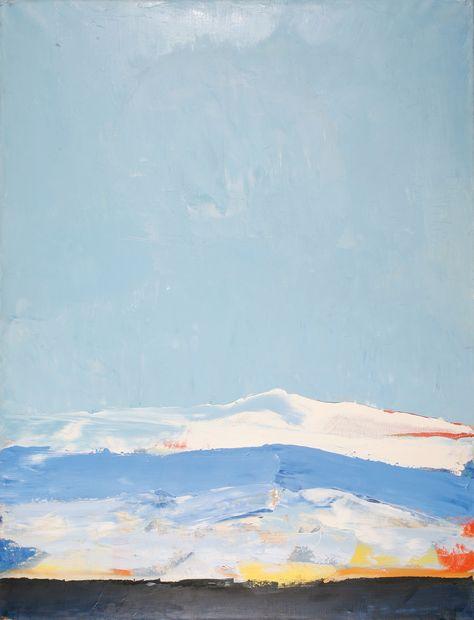 Nicolas de Stael - Landscape, Antibes, 1955, oil on canvas, 116 x 89 cm