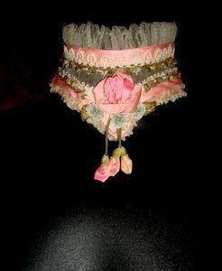 Fancy Embellished Edwardian High Collar circa 1905